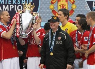 Manchester United's manager Sir Alex Fer